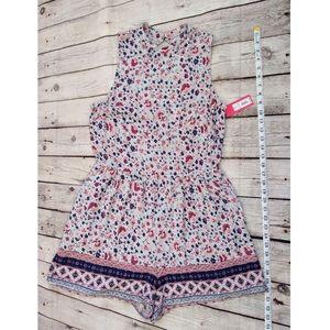 Xhilaration Shorts - Xhilration Floral Sleeveless Shorts Romper